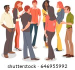 group of cartoon young people... | Shutterstock .eps vector #646955992