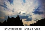 thai temple shadow with sky... | Shutterstock . vector #646957285