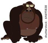 a huge  brown monkey | Shutterstock .eps vector #64695838