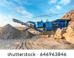 heavy machinery working on road ... | Shutterstock . vector #646963846
