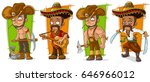 cartoon funny mexicans in... | Shutterstock .eps vector #646966012