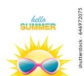 vector hello summer creative... | Shutterstock .eps vector #646972075