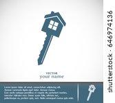 vector illustration of house key | Shutterstock .eps vector #646974136