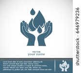 water care vector icons | Shutterstock .eps vector #646979236