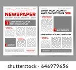 daily newspaper journal design... | Shutterstock .eps vector #646979656