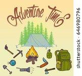 adventure time vector...   Shutterstock .eps vector #646980796