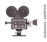 vintage movie camera vector... | Shutterstock .eps vector #646987192