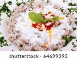 delicious turkish tatar borek... | Shutterstock . vector #64699393