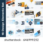 business vector design elements ... | Shutterstock .eps vector #646999252