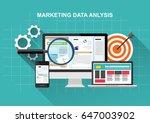 market analysis  web data... | Shutterstock .eps vector #647003902