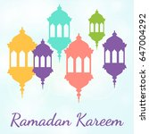 vector design for ramadan... | Shutterstock .eps vector #647004292