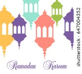 vector design for ramadan... | Shutterstock .eps vector #647004352