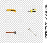 realistic pliers  stationery... | Shutterstock .eps vector #647008306