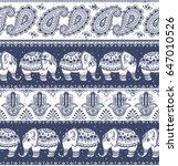 tribal vector seamless pattern... | Shutterstock .eps vector #647010526