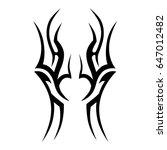 tribal tattoo art designs.... | Shutterstock .eps vector #647012482