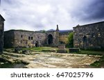ancient christian church in the ... | Shutterstock . vector #647025796
