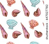 seamless pattern with hand... | Shutterstock . vector #647027782