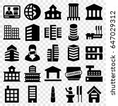 government icons set. set of 25 ... | Shutterstock .eps vector #647029312