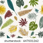 vector vintage card. seamless... | Shutterstock .eps vector #647031262