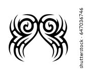 tattoo tribal vector designs. | Shutterstock .eps vector #647036746