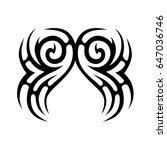 tribal tattoo art designs.... | Shutterstock .eps vector #647036746