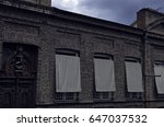 fragment of brick facade of an... | Shutterstock . vector #647037532