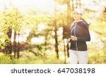 sport fitness woman running in... | Shutterstock . vector #647038198