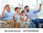 family of three generations... | Shutterstock . vector #647044846