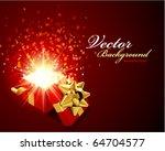 vector background with open gift | Shutterstock .eps vector #64704577