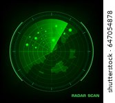 radar screen with futuristic...