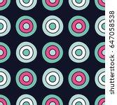 polka dot seamless pattern.... | Shutterstock .eps vector #647058538