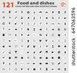 food web icons for user... | Shutterstock .eps vector #647063596