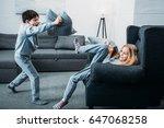 adorable little children in... | Shutterstock . vector #647068258