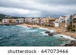 sea coast in calella de... | Shutterstock . vector #647073466