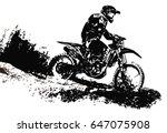 motocross rider   Shutterstock .eps vector #647075908