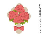 wedding related icon image  | Shutterstock .eps vector #647076376