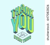 lovely thank you card design... | Shutterstock .eps vector #647082826