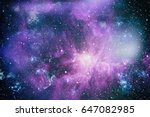 nebula and galaxies in space.... | Shutterstock . vector #647082985