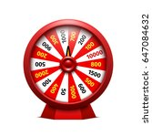 wheel of fortune on white... | Shutterstock .eps vector #647084632