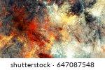 bright artistic splashes.... | Shutterstock . vector #647087548
