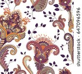 ethnic seamless pattern. indian ... | Shutterstock . vector #647096596