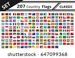 set 207 country flag | Shutterstock .eps vector #647099368