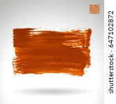 orange brush stroke and texture.... | Shutterstock .eps vector #647102872