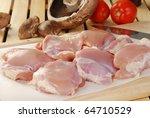 Raw Chicken Thighs  Mushrooms...