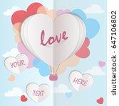 love invitation card. balloon... | Shutterstock .eps vector #647106802