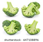 fresh cut raw broccoli. pieces... | Shutterstock . vector #647108896