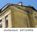 the upper part of the old house | Shutterstock . vector #647114056