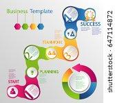 infographic design vector with... | Shutterstock .eps vector #647114872