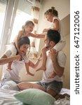 family spending free time at... | Shutterstock . vector #647122006