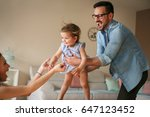 family playing at home with... | Shutterstock . vector #647123452